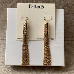 Gold Tassel Chain Earrings NEW